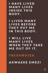 Freshwater (ISBN: 9780571345397)