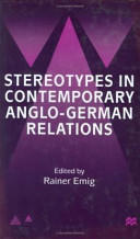 Stereotypes in Contemporary Anglo-German Relationships (ISBN: 9780333793411)
