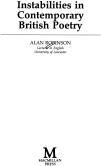 Instabilities in Contemporary British Poetry (ISBN: 9780333467695)