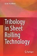 Tribology in Sheet Rolling Technology - Akira Azushima (ISBN: 9783319172255)