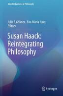 Susan Haack: Reintegrating Philosophy (ISBN: 9783319249674)