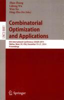 Combinatorial Optimization and Applications - 8th International Conference, Cocoa 2014, Wailea, Maui, HI, USA, December 19-21, 2014, Proceedings (ISBN: 9783319126906)