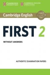 Cambridge English First for Schools 2 Audio CDs - Authentic Examination Papers (ISBN: 9781316503492)