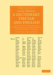 Essay Towards a Dictionary, Tibetan and English (ISBN: 9781108056472)