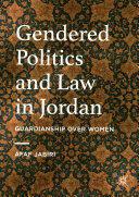 Gendered Politics and Law in Jordan - Afaf Jabiri (ISBN: 9783319326429)