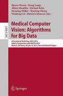 Medical Computer Vision: Algorithms for Big Data (ISBN: 9783319420158)