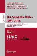 Semantic Web - ISWC 2016 (ISBN: 9783319465227)