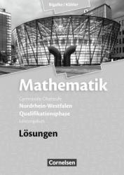 Mathematik Qualifikationsphase Leistungskurs. Lsungen zum Schlerbuch. Sekundarstufe II Nordrhein-Westfalen (ISBN: 9783060419173)