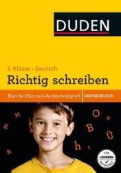 bungsblock: Deutsch - Richtig schreiben 3. Klasse (ISBN: 9783411753420)