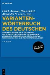 Variantenwrterbuch des Deutschen (ISBN: 9783110340921)