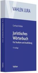 Juristisches Wrterbuch (ISBN: 9783800658817)