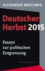 Deutscher Herbst 2015 (ISBN: 9783944872889)