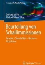 Beurteilung von Schallimmissionen (ISBN: 9783662553886)