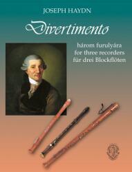 Divertimento 3 furulyára - kotta (ISBN: 9790801653673)