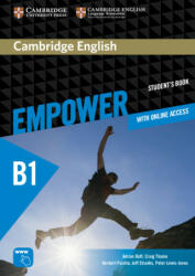 Cambridge English Empower Pre-intermediate Student's Book Pack with Online Workbook Academic Skills and Reading Plus (ISBN: 9781108754873)