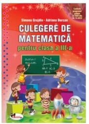 Culegere de matematică pentru clasa a III-a (ISBN: 9786060091929)