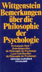 Bemerkungen ber die Philosophie der Psychologie (2009)