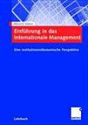 Einf hrung in Das Internationale Management - Albrecht Söllner (2007)