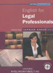 ENGLISH FOR LEGAL PROFESSIONALS (ISBN: 9780194579155)