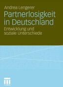 Partnerlosigkeit in Deutschland (2011)