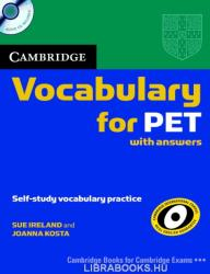 Cambridge Vocabulary for PET Student Book with Answers and Audio CD (ISBN: 9780521708210)