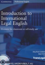 Introduction To International Legal English +Audio Cd (ISBN: 9780521718998)