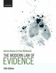 The Modern Law of Evidence (ISBN: 9780198848486)