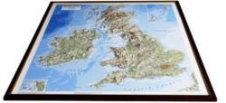 British Isles Raised Relief Map - Unframed (2008)