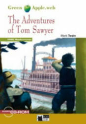BLACK CAT READERS GREEN APPLE EDITION 1 - ADVENTURES OF TOM SAWYER + CD-ROM - Mark Twain, Adapted by Sally M. Stockton (ISBN: 9788853010919)