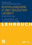 Kommunalpolitik in Den Deutschen Landern (2010)