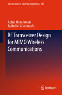 RF Transceiver Design for MIMO Wireless Communications (2012)