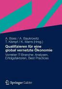 Qualifizieren Fur Eine Global Vernetzte Okonomie (2012)