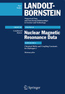 Chemical Shifts and Coupling Constants for Hydrogen-1 (2010)