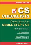 CS Checklists: Portable Review for the USMLE Step 2 CS (2005)