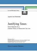 Justifying Taxes - Agustín J. Menéndez (2010)