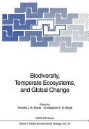 Biodiversity Temperate Ecosystems and Global Change (2012)