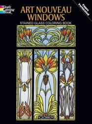 Art Nouveau Windows Stained Glass Coloring Book (2009)