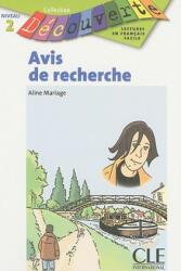 DECOUVERTE 2 AVIS DE RECHERCHE - A. Mariage (ISBN: 9782090314762)