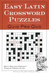 Easy Latin Crossword Puzzles (2011)