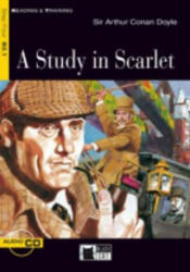 Black Cat STUDY IN SCARLET + CD ( Reading a Training Level 4) - Sir Arthur Conan Doyle, Retold by Nancy Timmins, Activities by Eleanor Donaldson (ISBN: 9788853002952)