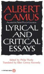 Lyrical and Critical Essays (2009)