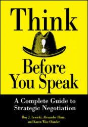 Think Before You Speak (ISBN: 9780471013211)