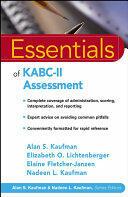 Essentials of KABC II Assessment (ISBN: 9780471667339)