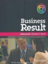 Business Result: Advanced: Student's Book with DVD-ROM and Online Workbook Pack - Baade, K. - Holloway, Ch. - Scrivener, J. - Turner, R (ISBN: 9780194739412)