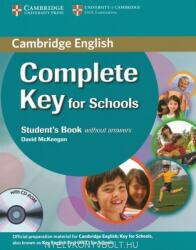 Complete Key for Schools Student's Book w/o ans. + CD-ROM (2013)