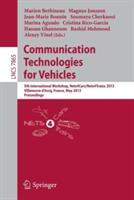 Communication Technologies for Vehicles - 5th International Workshop, Nets4Cars/Nets4Trains 2013, Villeneuve d'Ascq, France, May 14-15, 2013, Proceed (2013)