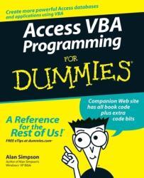 Access VBA Programming For Dummies (ISBN: 9780764574115)