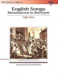 English Songs: Renaissance to Baroque: The Vocal Library High Voice (1996)