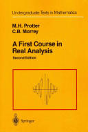 First Course in Real Analysis (2012)