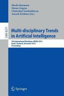 Multi-disciplinary Trends in Artificial Intelligence - 7th International Workshop, MIWAI 2013, Krabi, Thailand, December 9-11, 2013, Proceedings (2013)